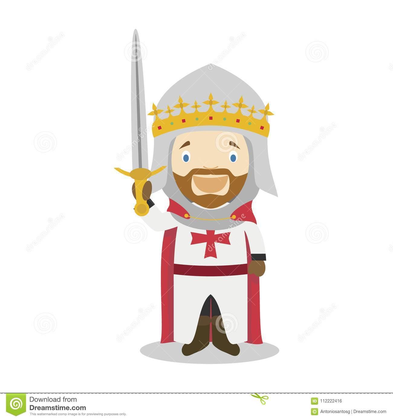 Richard I De L'angleterre Le Personnage De Dessin Animé De dedans Dessin De Angleterre