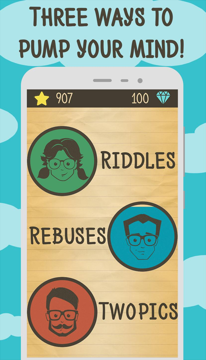 Riddles, Rebus Puzzles And Two Pics Pour Android concernant Jeux Rebus