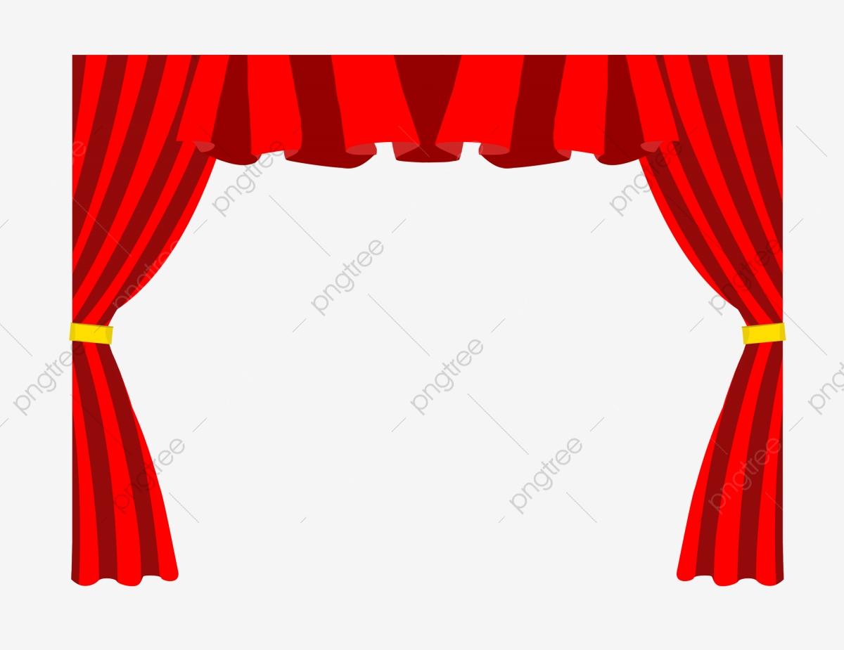 Rideau Rouge Rideau De Théâtre Illustration De Dessin Animé encequiconcerne Dessin Theatre