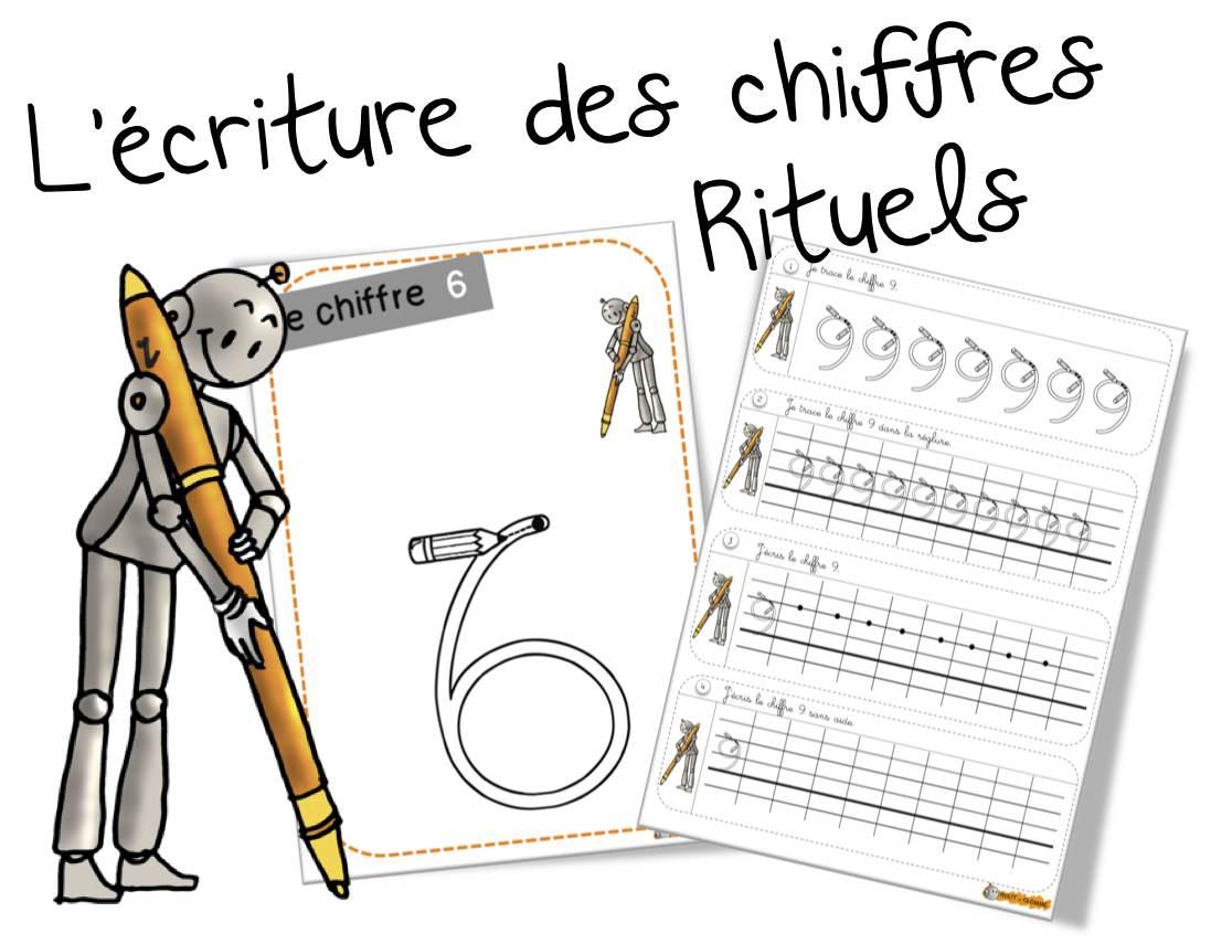 Rituels « Ecriture Des Chiffres «   Bout De Gomme intérieur Écriture Chiffres Maternelle