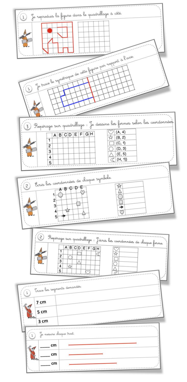 Rituels Géométrie | Bout De Gomme à Reproduction Sur Quadrillage Ce2