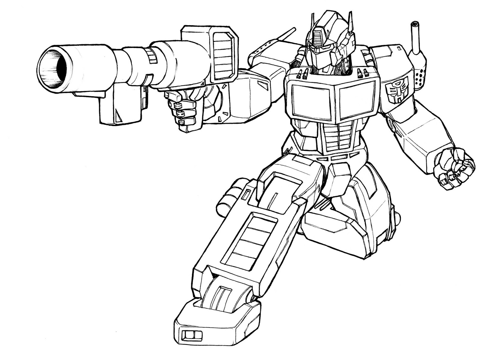 Robot #112 (Personnages) – Coloriages À Imprimer avec Coloriage Robot À Imprimer