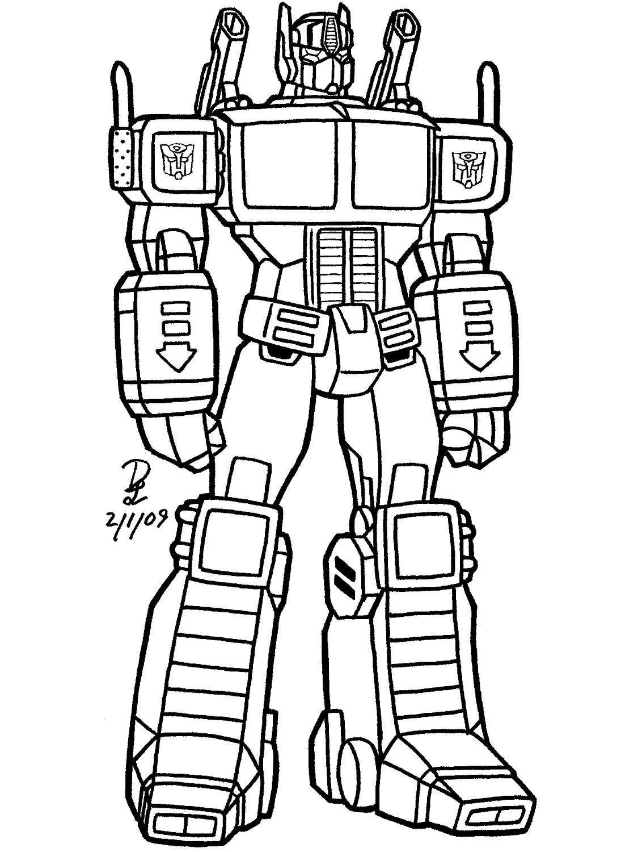 Robot #130 (Personnages) – Coloriages À Imprimer avec Coloriage Robot À Imprimer