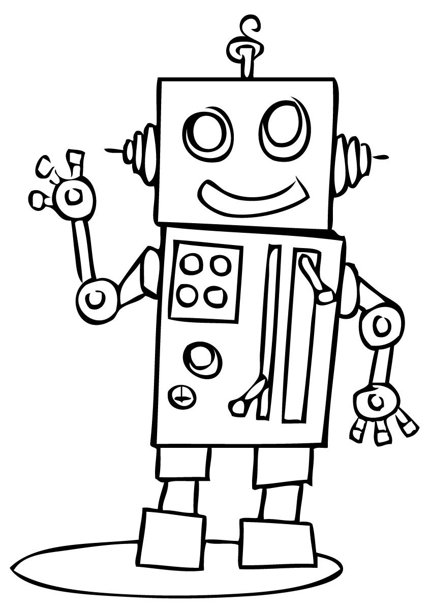 Robot #9 (Personnages) – Coloriages À Imprimer tout Coloriage Robot À Imprimer
