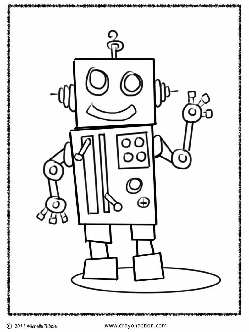 Robot Coloring Page | Coloriage Robot, Dessin Coloriage Et avec Coloriage Robot À Imprimer