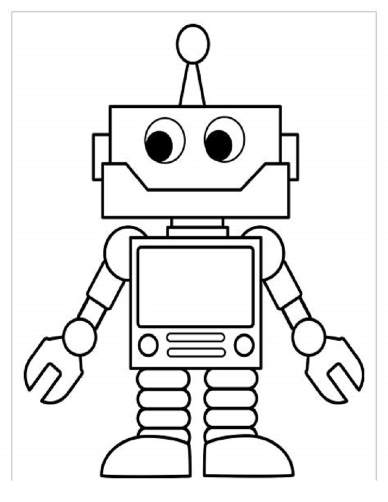 Robot Coloring Pages For Preschool | Educative Printable destiné Coloriage Robot À Imprimer