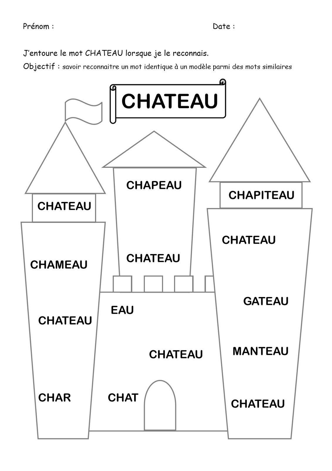 Roi, Reine, Chateau, Recherche Mot, Graphisme, Jeu, Formes encequiconcerne Jeux De Découpage