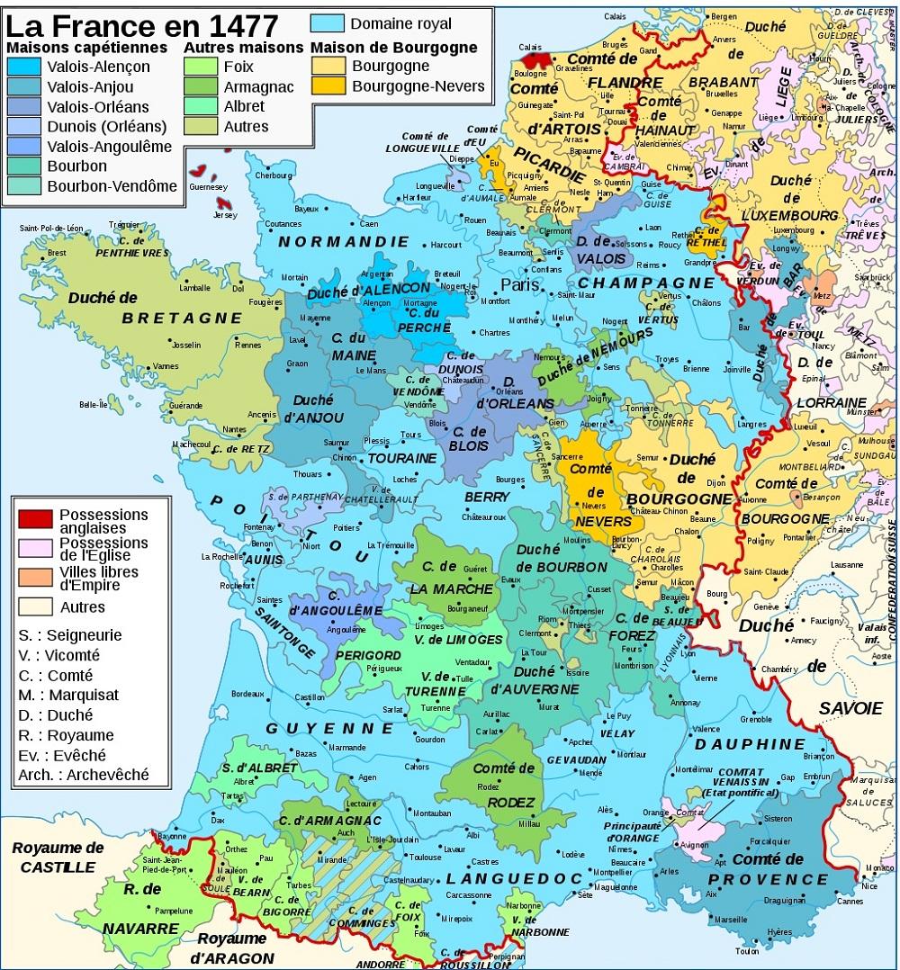 Rois De France Géographie tout Carte De Fra