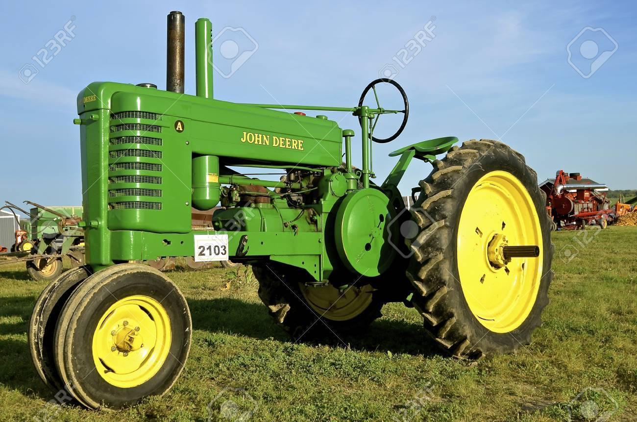 Rollag, Minnesota, Sept 1, 2016: An Old Restored John Deere A.. avec Image Tracteur John Deere