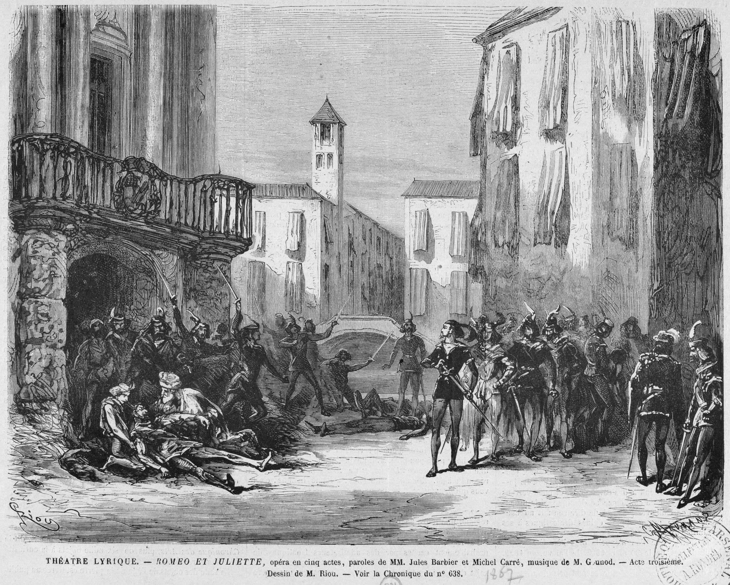 Romeo Ve Jülyet (Gounod) - Vikipedi concernant Dessin Theatre