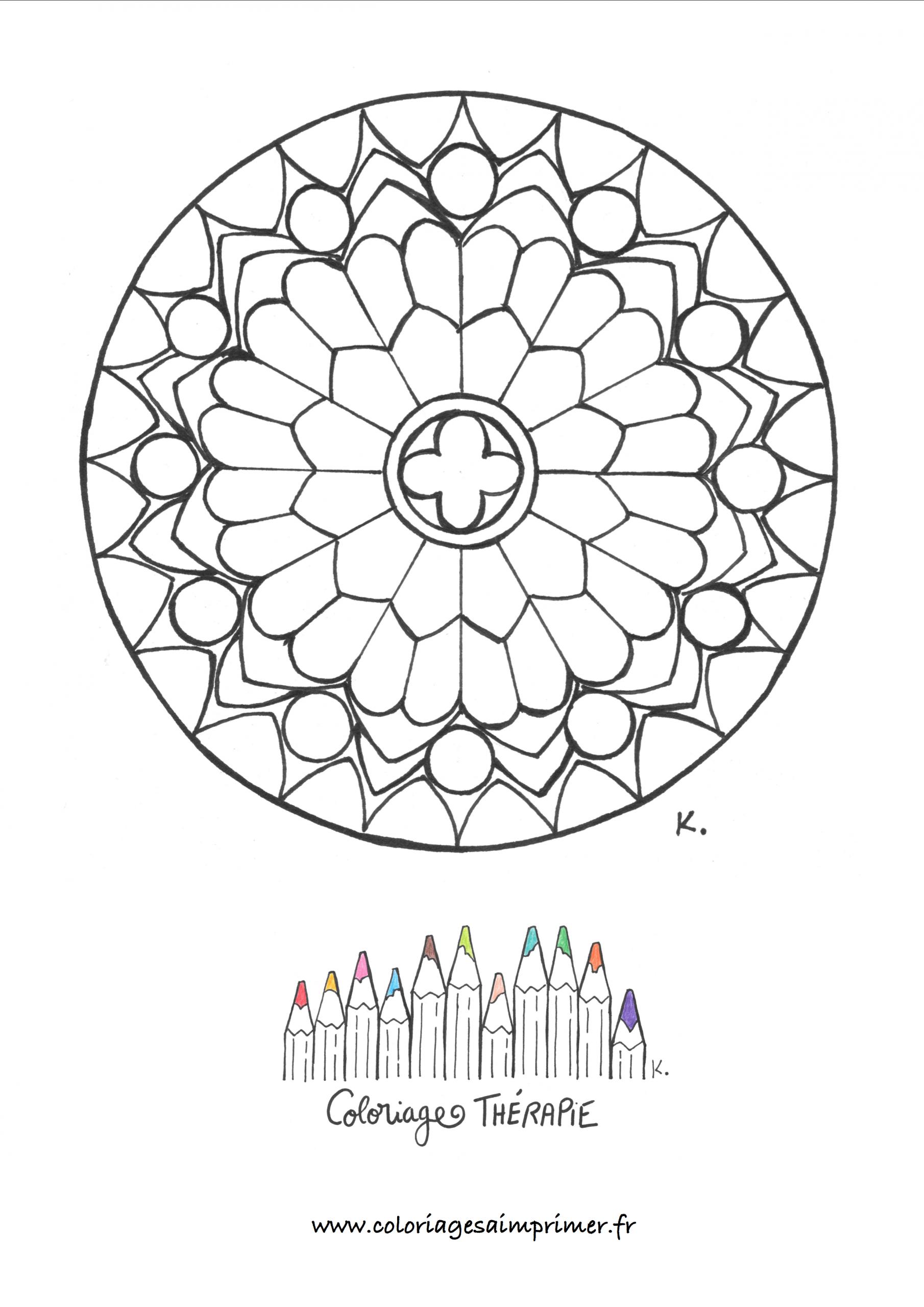 Rosace De La Cathédrale De Notre-Dame - Coloriages À Imprimer avec Rosace A Imprimer