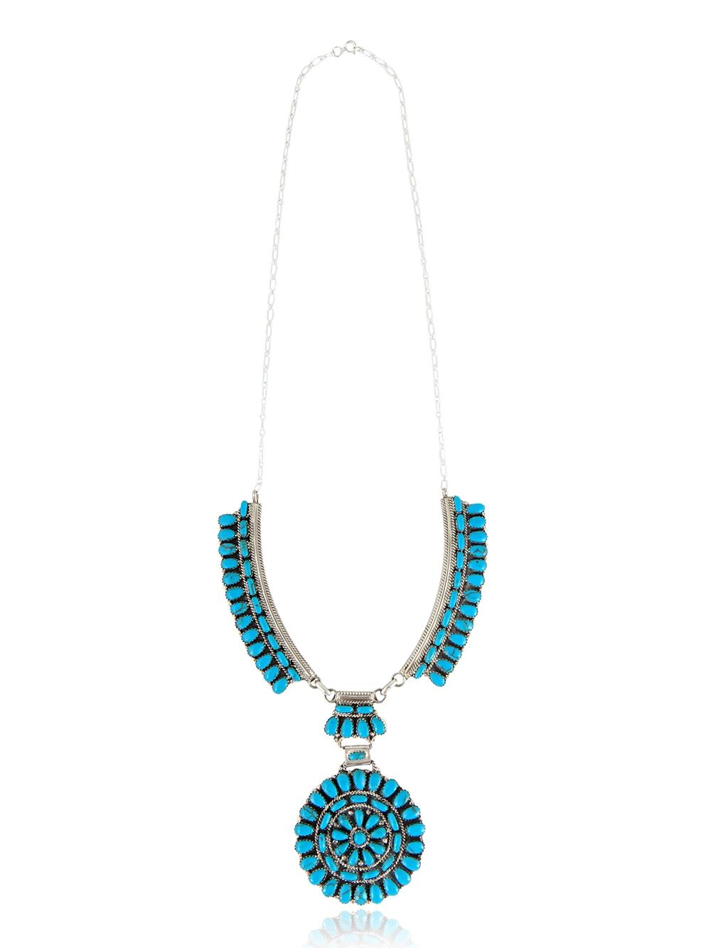 Rosace Turquoise Necklace serapportantà Image De Rosace