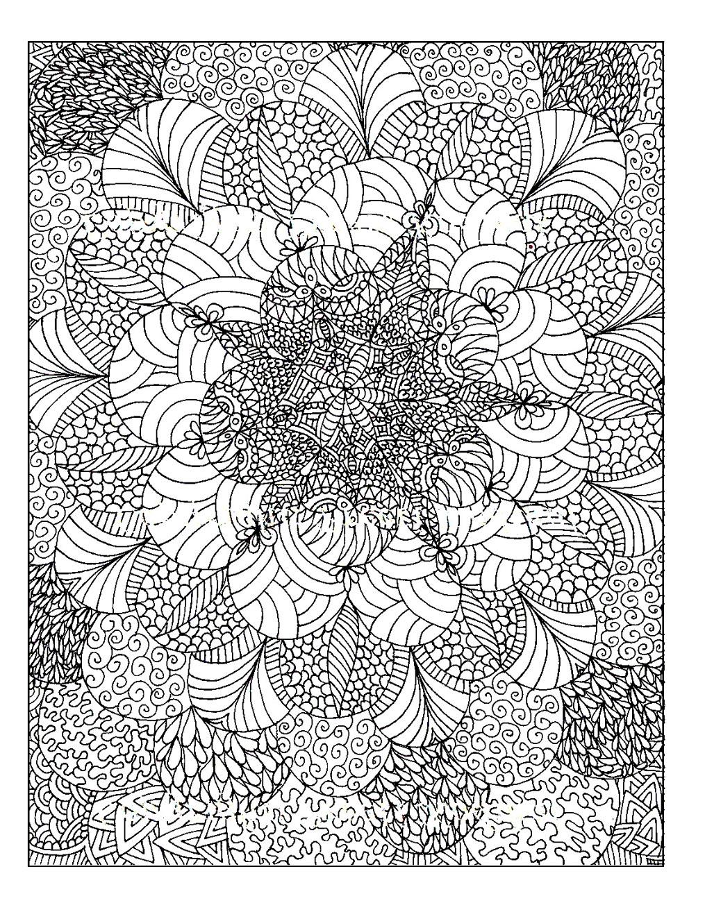 Rosaces - Anti-Stress & Art-Thérapie - Coloriages Difficiles encequiconcerne Rosace A Imprimer