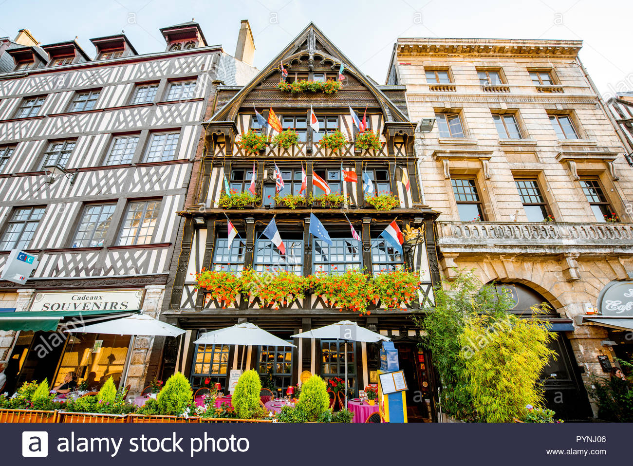 Rouen, France - September 03, 2017: Beautiful Houses On The pour Region De France 2017