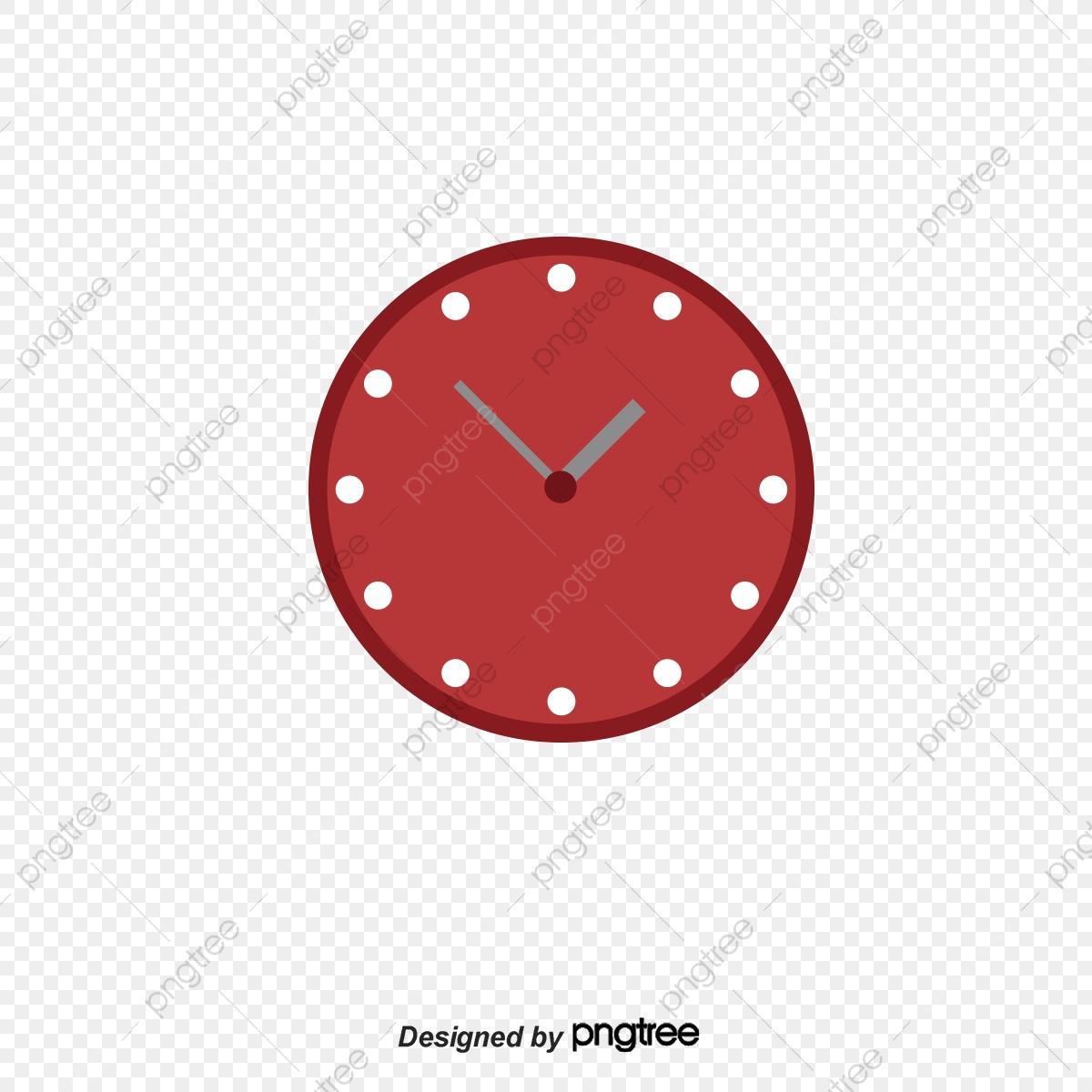 Rouge De Dessin D'horloge, Réveil, Horloge, La Surface De La tout Dessin D Horloge
