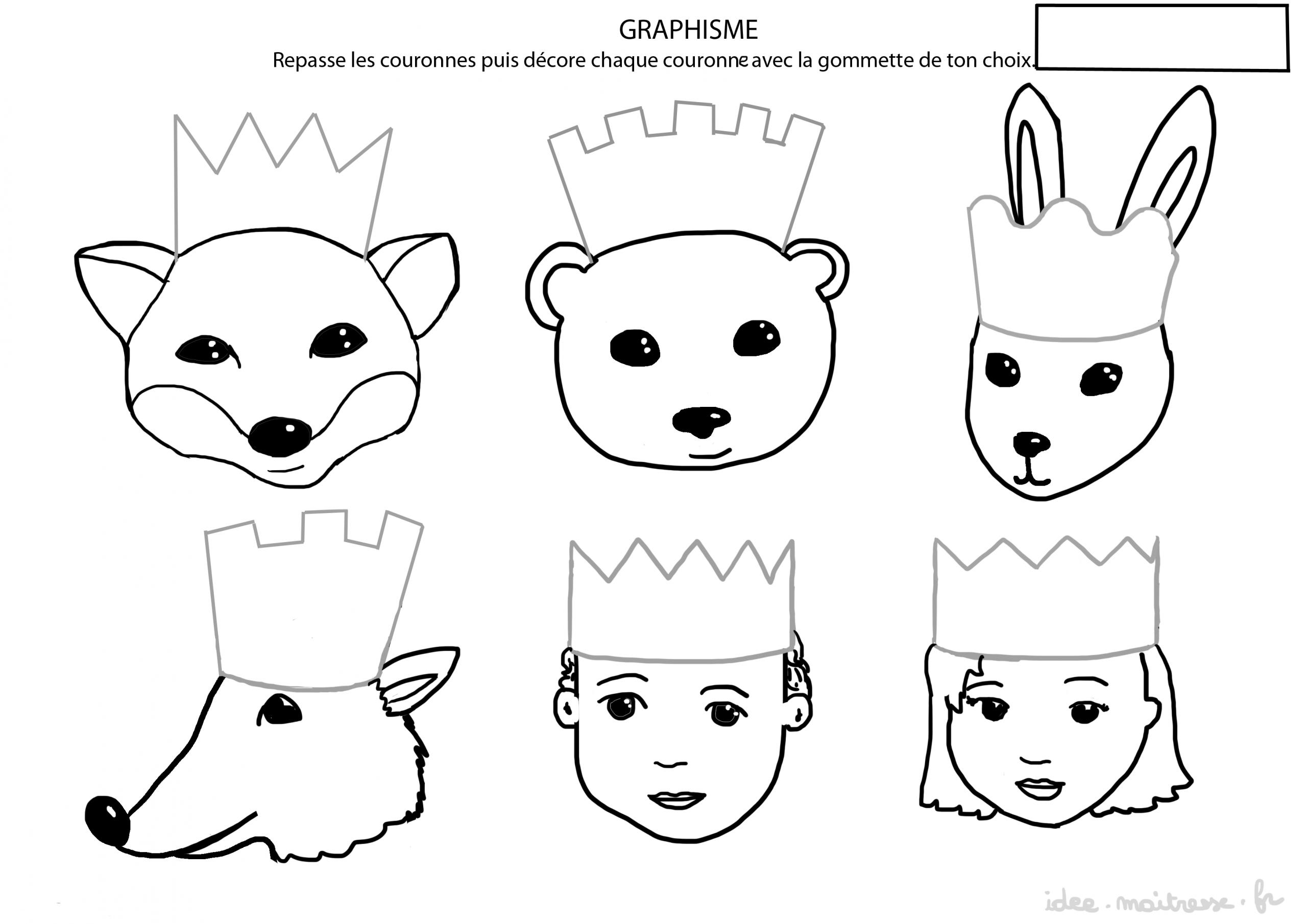 Roule-Galette: La Galette Des Rois S'invitent En Salle De Classe pour Exercice Pour Maternelle Petite Section