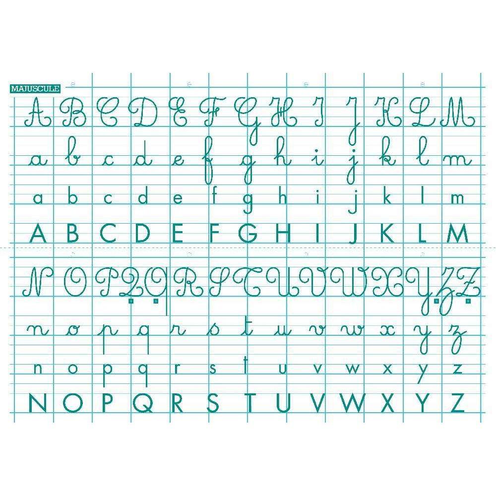 Rouleau Tableau Blanc Abécédaire 70X100 Cm - Generic à Apprendre A Ecrire Les Lettres En Majuscule