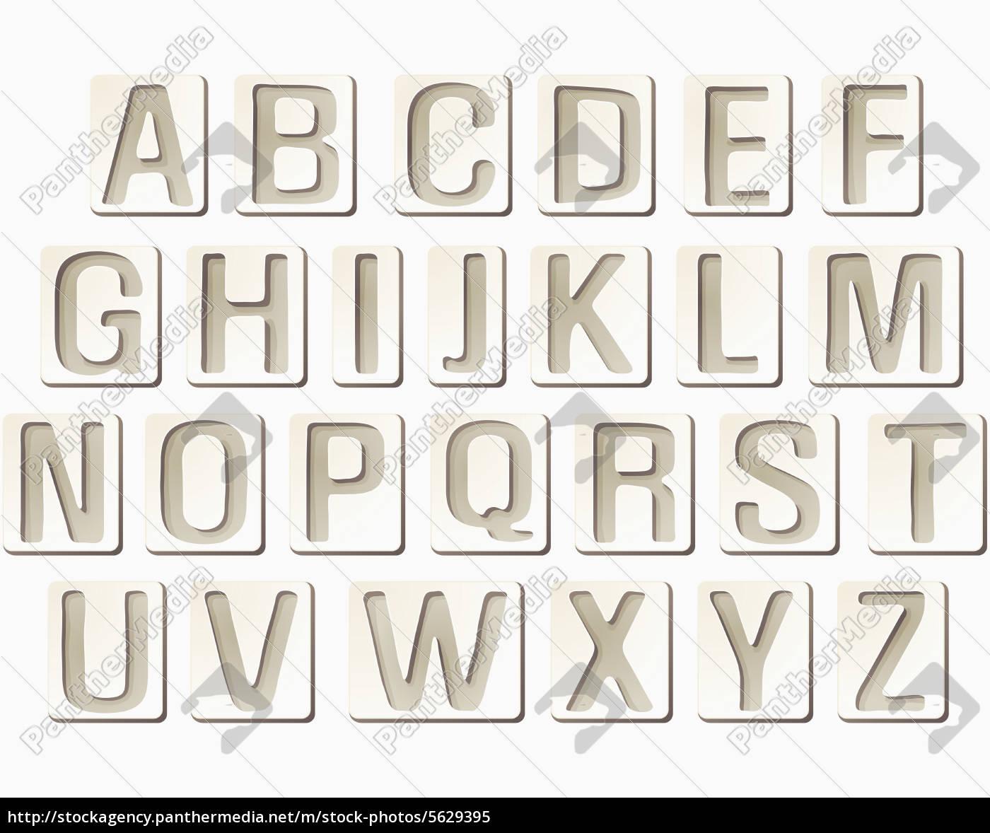 Royalty Free Image 5629395 - 201106Tongro Text Western Script Alphabet  Frame Capital Letter intérieur Alphabet En Script