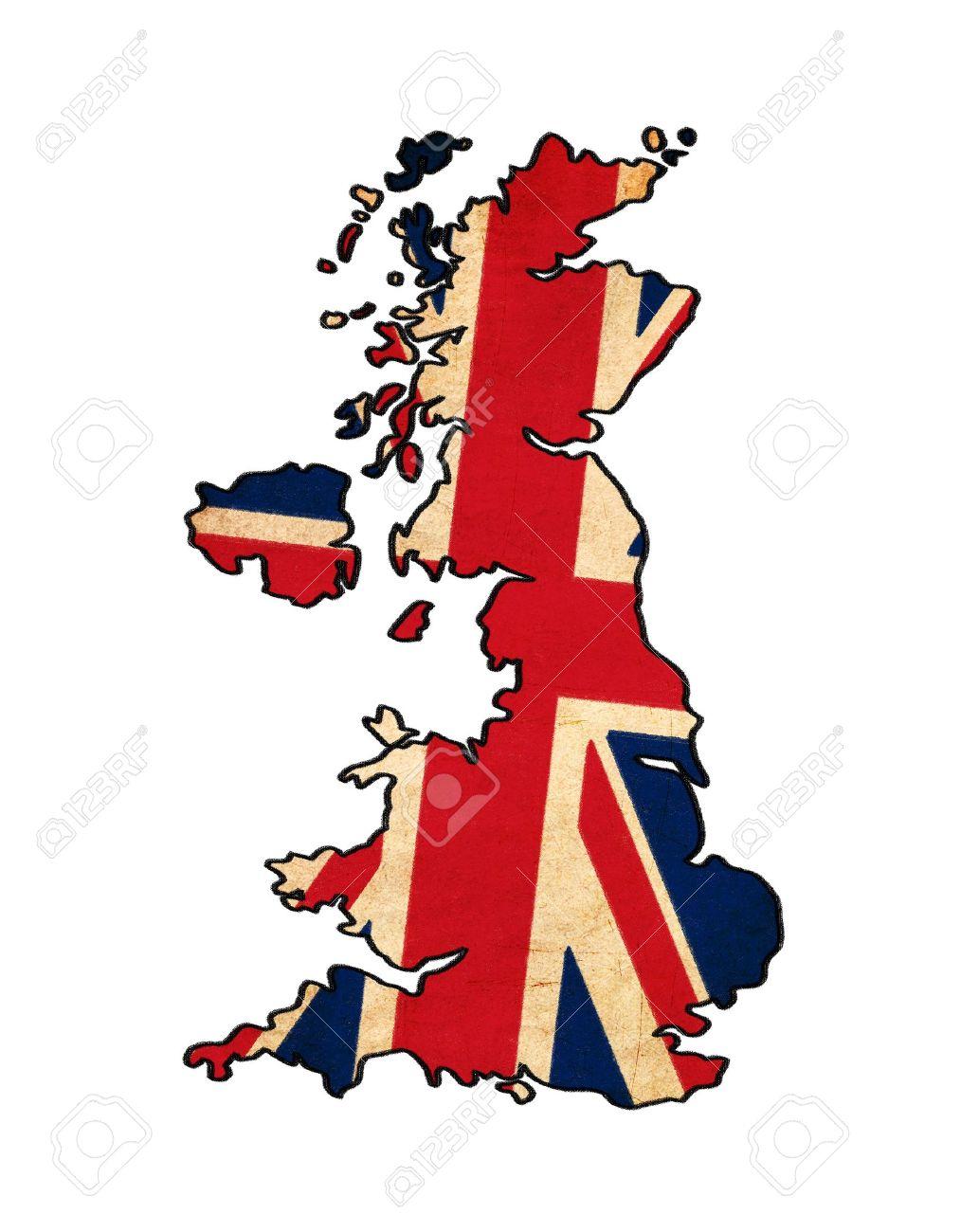 Royaume-Uni Carte De Dessin-Unis Flag-Uni, Grunge Et Rétro Flag Series à Dessin De Angleterre