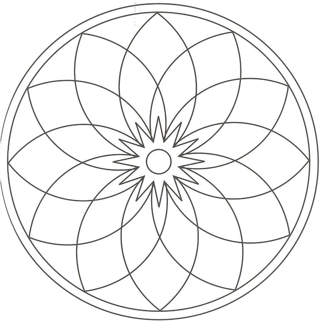 Rub Mandalas   Coloriage Rosace, Coloriage Mandala serapportantà Rosace A Imprimer