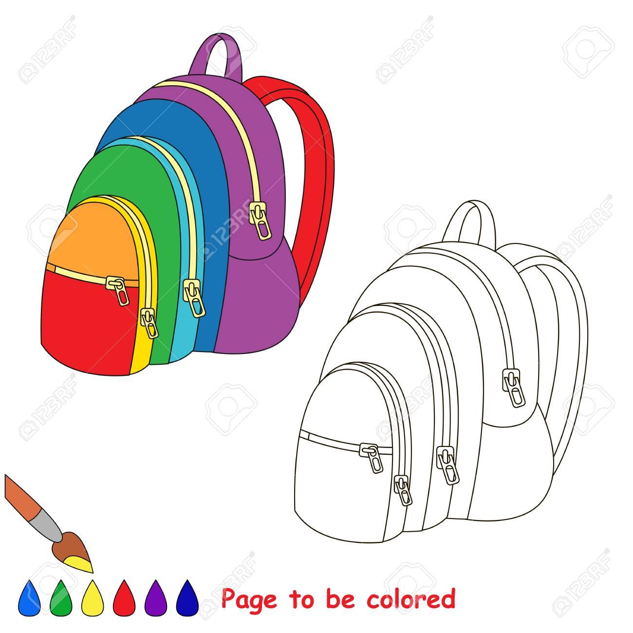 Sac À Dos Arc-En-Ciel À Colorier, Le Livre De Coloriage Pour Éduquer Les  Enfants D'âge Préscolaire Avec Des Jeux Éducatifs Pour Enfants Facile Et tout Arc En Ciel A Colorier