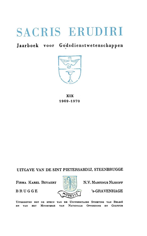 Sacris Erudiri Volume 19 1969 By Mediaevii Studiosus - Issuu pour Rébus Facile Avec Réponse