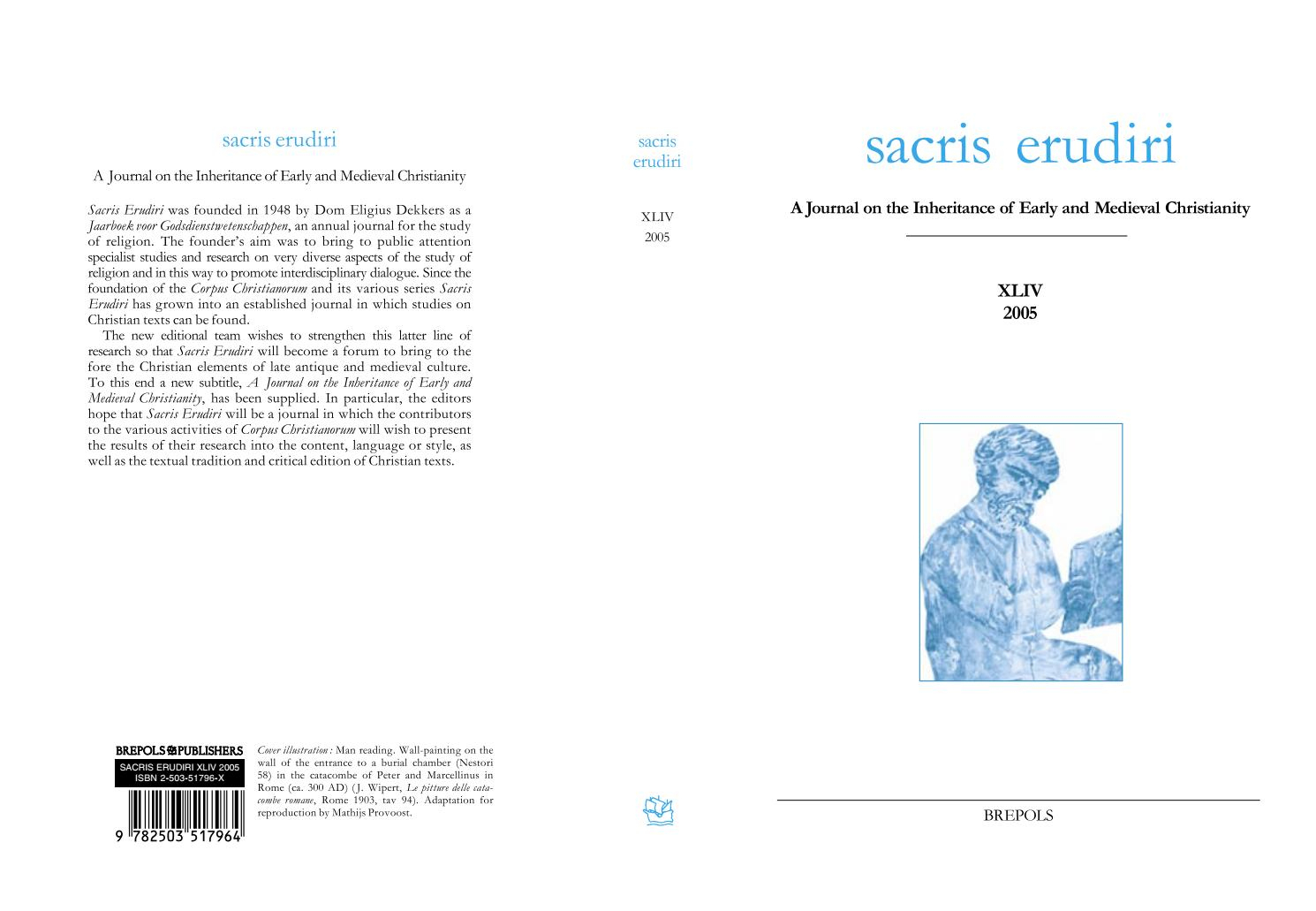 Sacris Erudiri Volume 44 2005 By Mediaevii Studiosus - Issuu dedans Argent Factice À Imprimer
