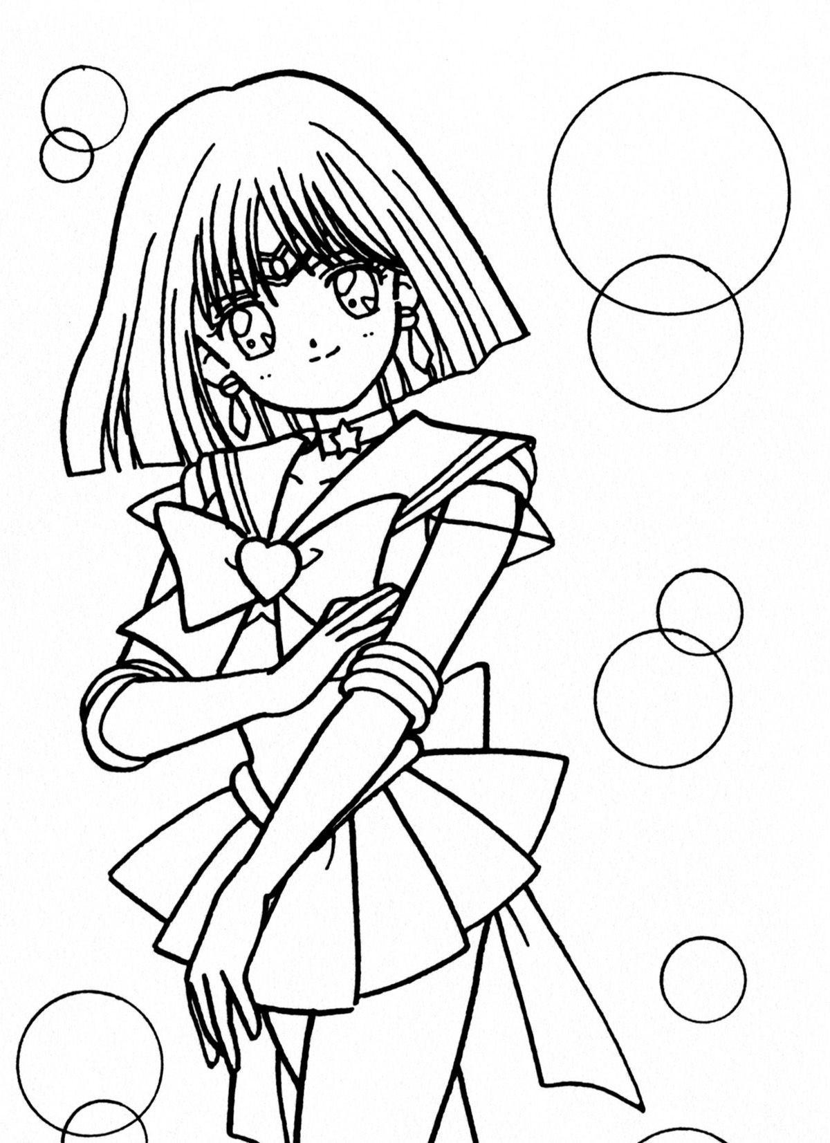 Sailor Saturne | Coloriage, Dessin Et Manga pour Saturne Dessin