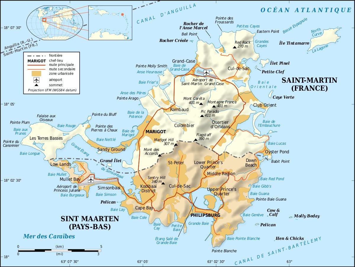Saint-Martin (Île) — Wikipédia encequiconcerne Petite Carte De France A Imprimer