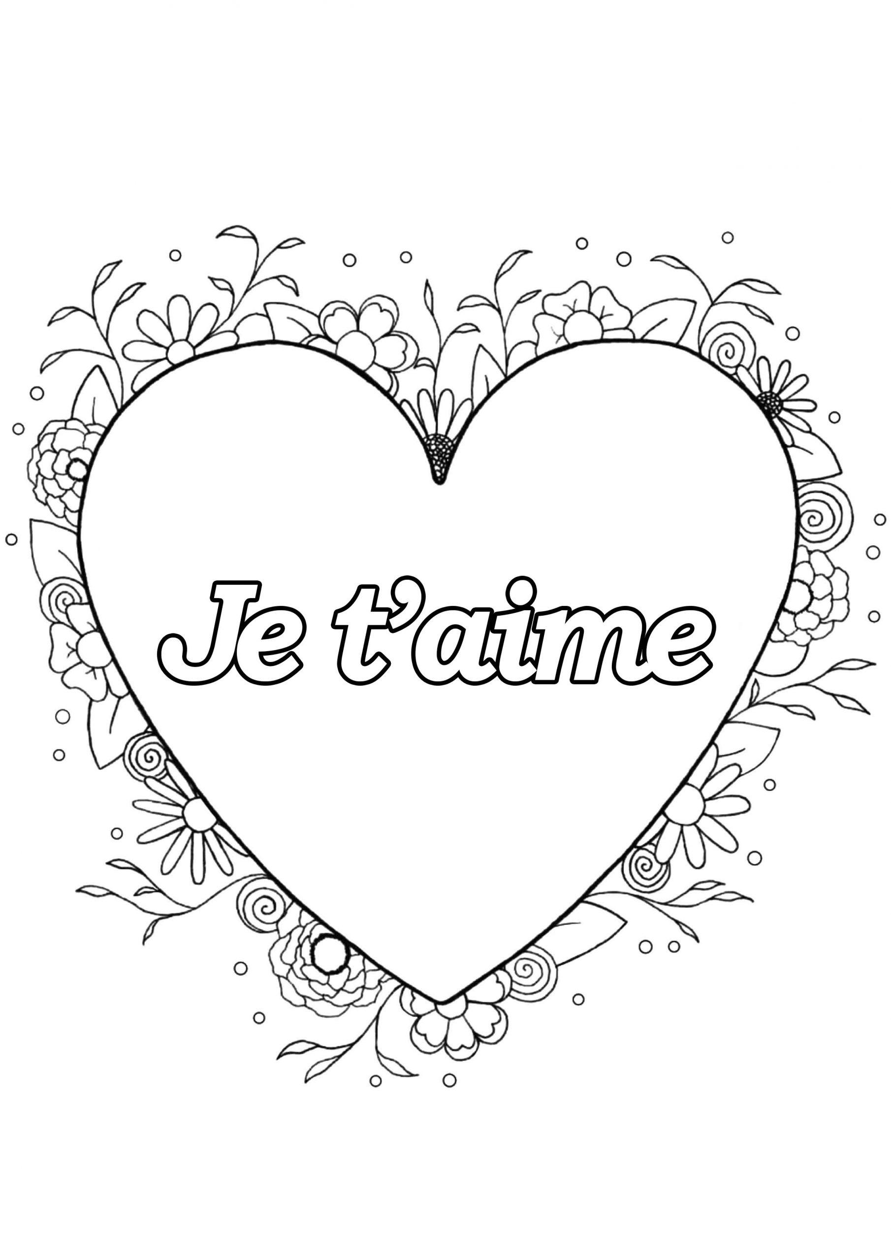 Saint Valentin 4 - Saint Valentin - Coloriages Difficiles dedans Dessin Pour La Saint Valentin