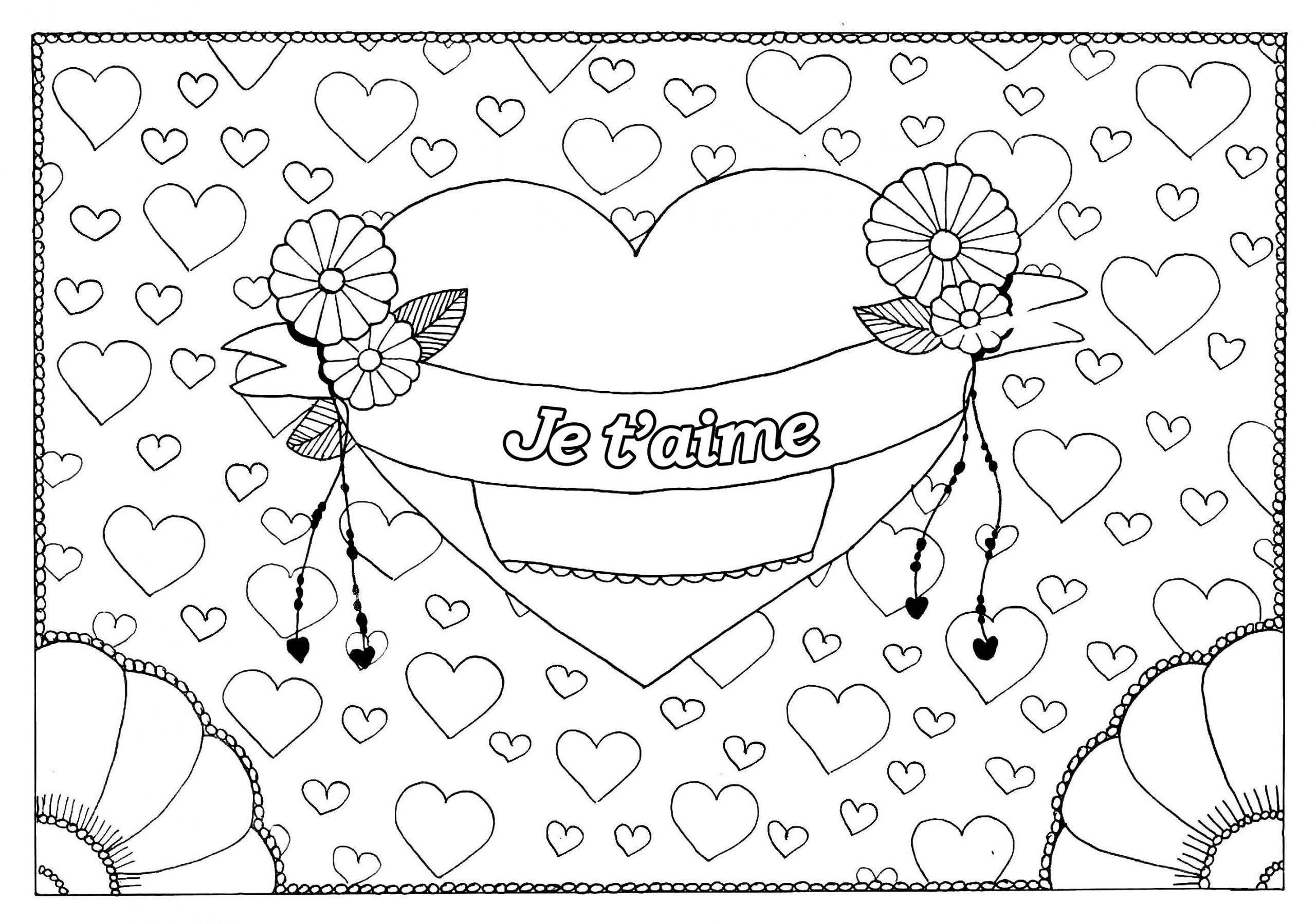 Saint Valentin 5 - Saint Valentin - Coloriages Difficiles tout Dessin Pour La Saint Valentin
