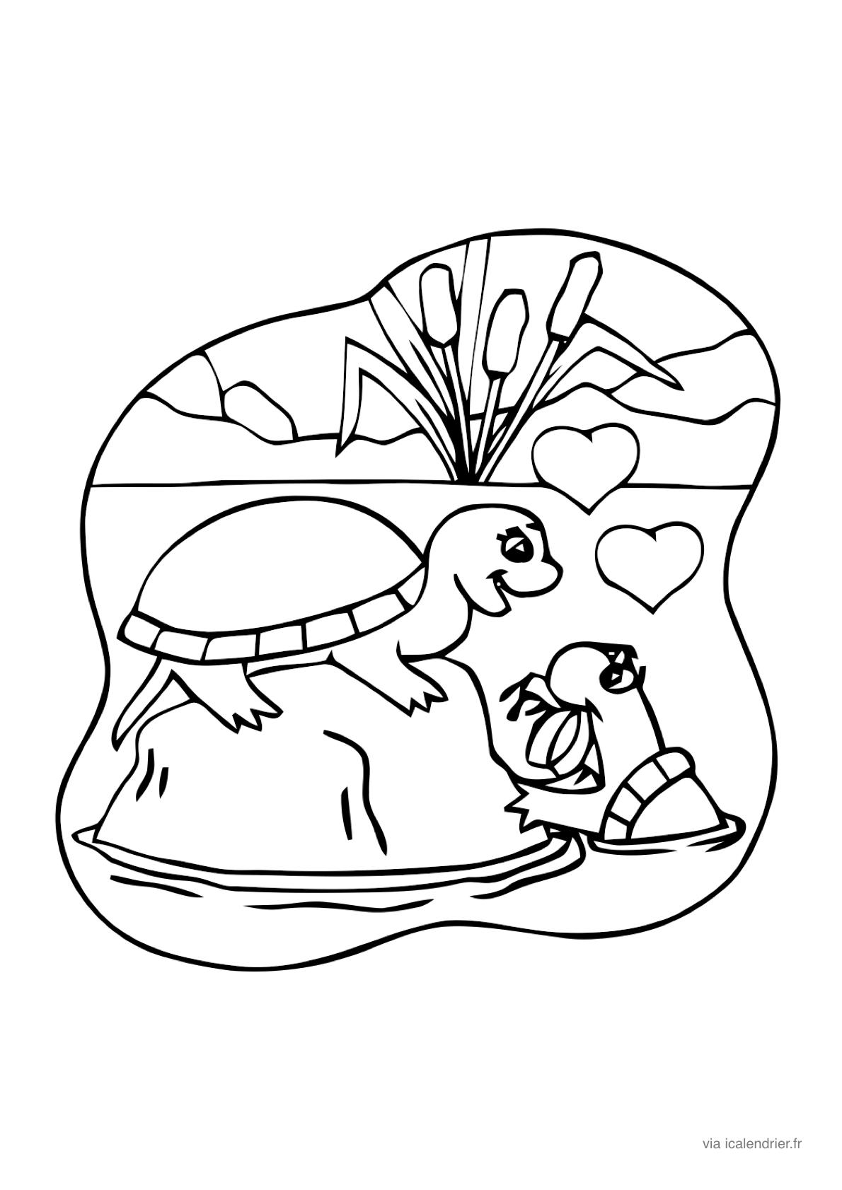Saint-Valentin - Coloriage À Offrir - Icalendrier pour Dessin Pour La Saint Valentin