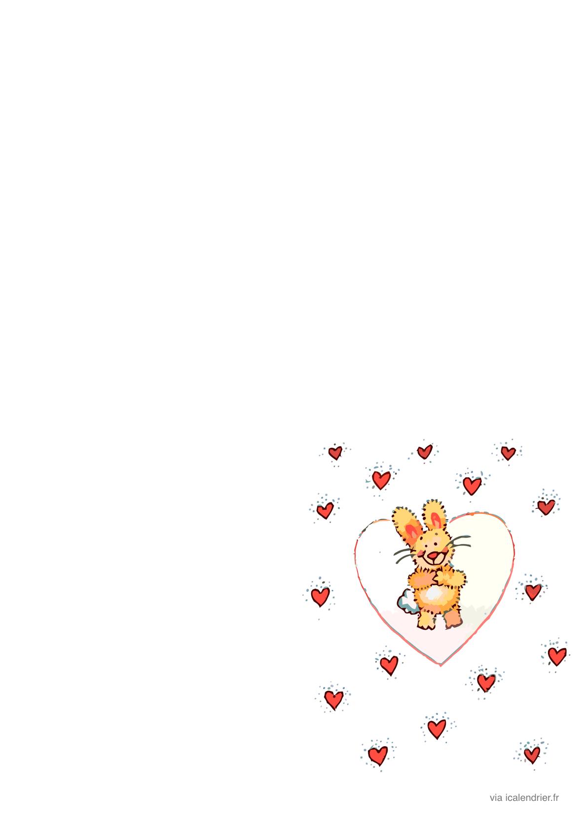Saint-Valentin - Lettres Et Enveloppes Illustrées - Icalendrier tout Papier A Lettre Enfant