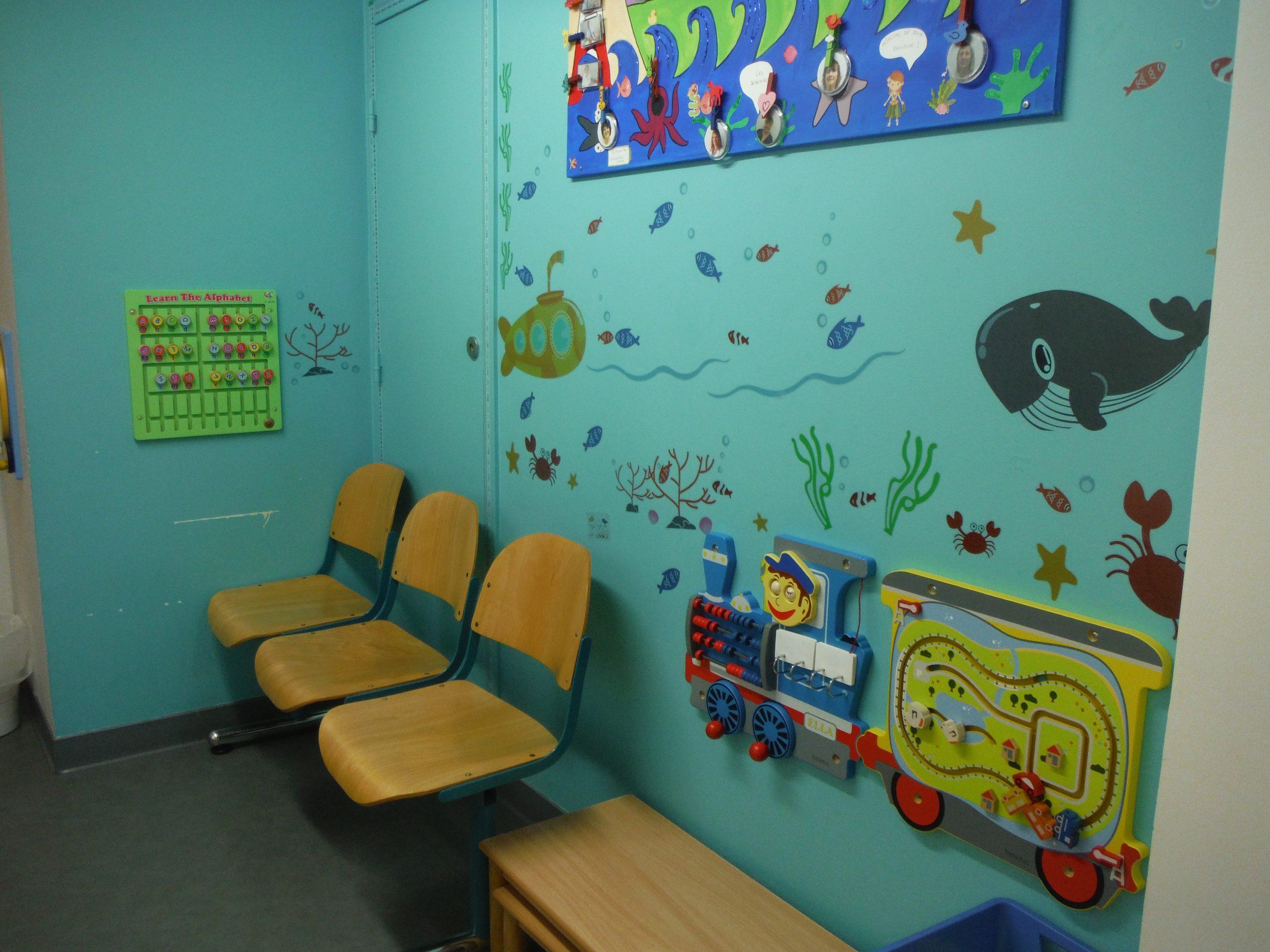 Salle D'attente D'un Hôpital : Les Jeux Muraux L'îlot concernant Jeux Ludique Enfant