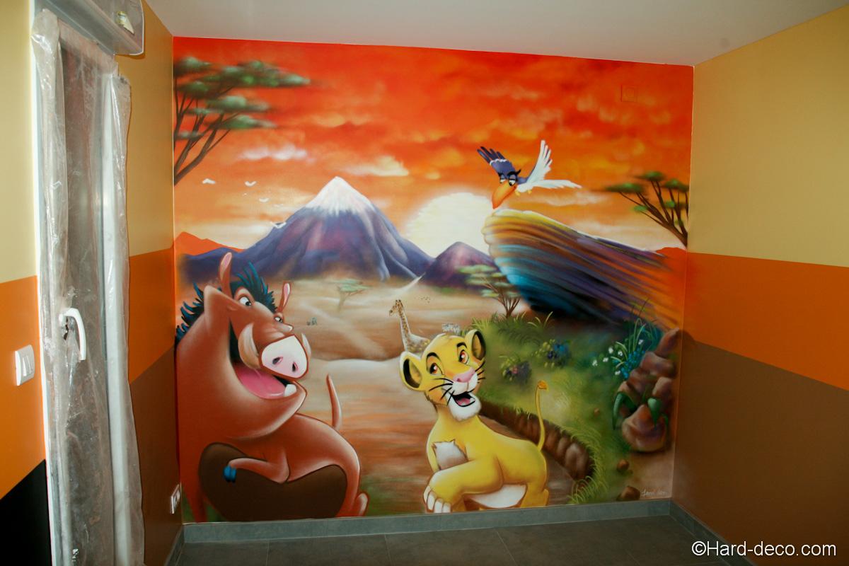 Salle De Jeu Simba | Hard Deco pour Jeux De Savane