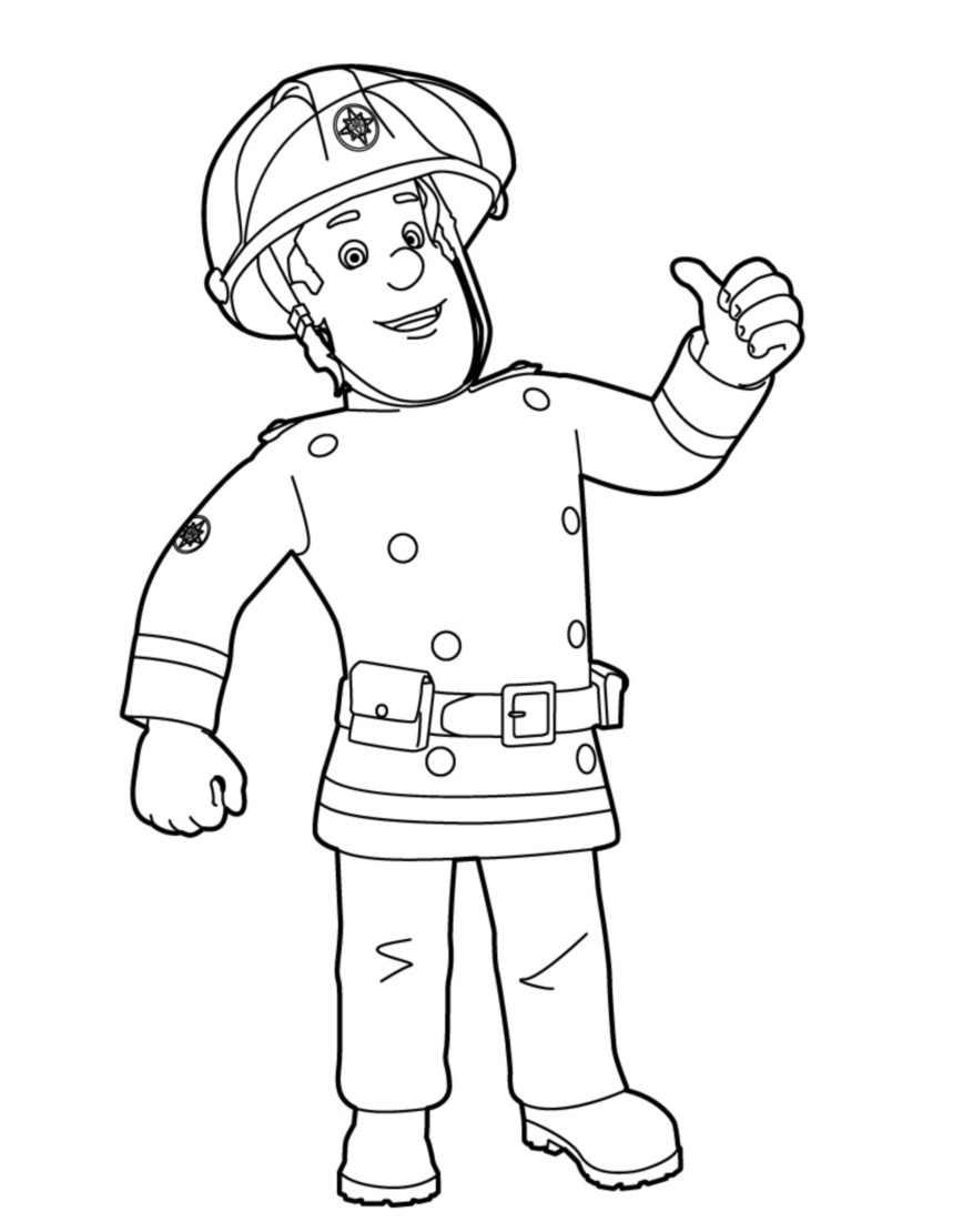 Sam Le Pompier 02 6Q2 Source - Coloriage De Sam Le Pompier concernant Dessin De Pompier À Imprimer