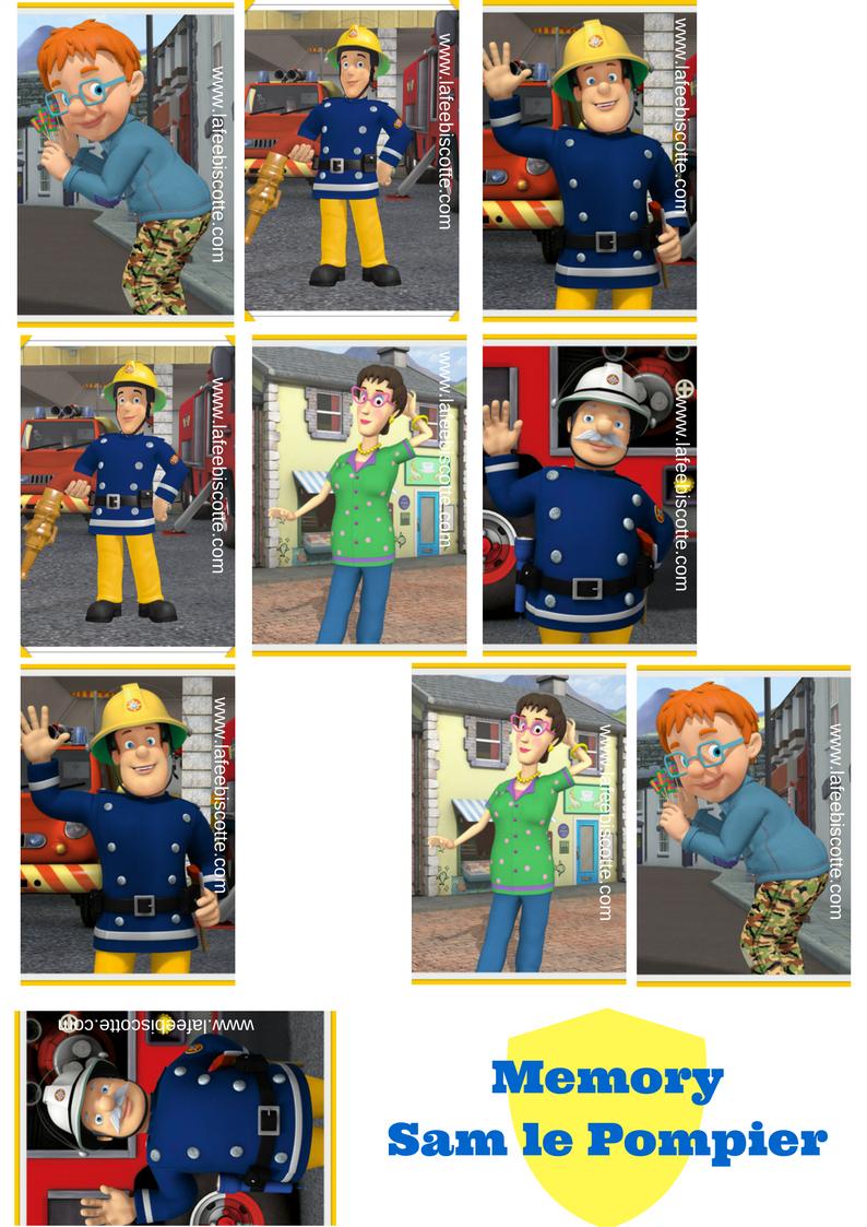 Sam Le Pompier Activitées Pour Enfant {À Imprimer} - La Fée destiné Jeux De Camion De Pompier Gratuit
