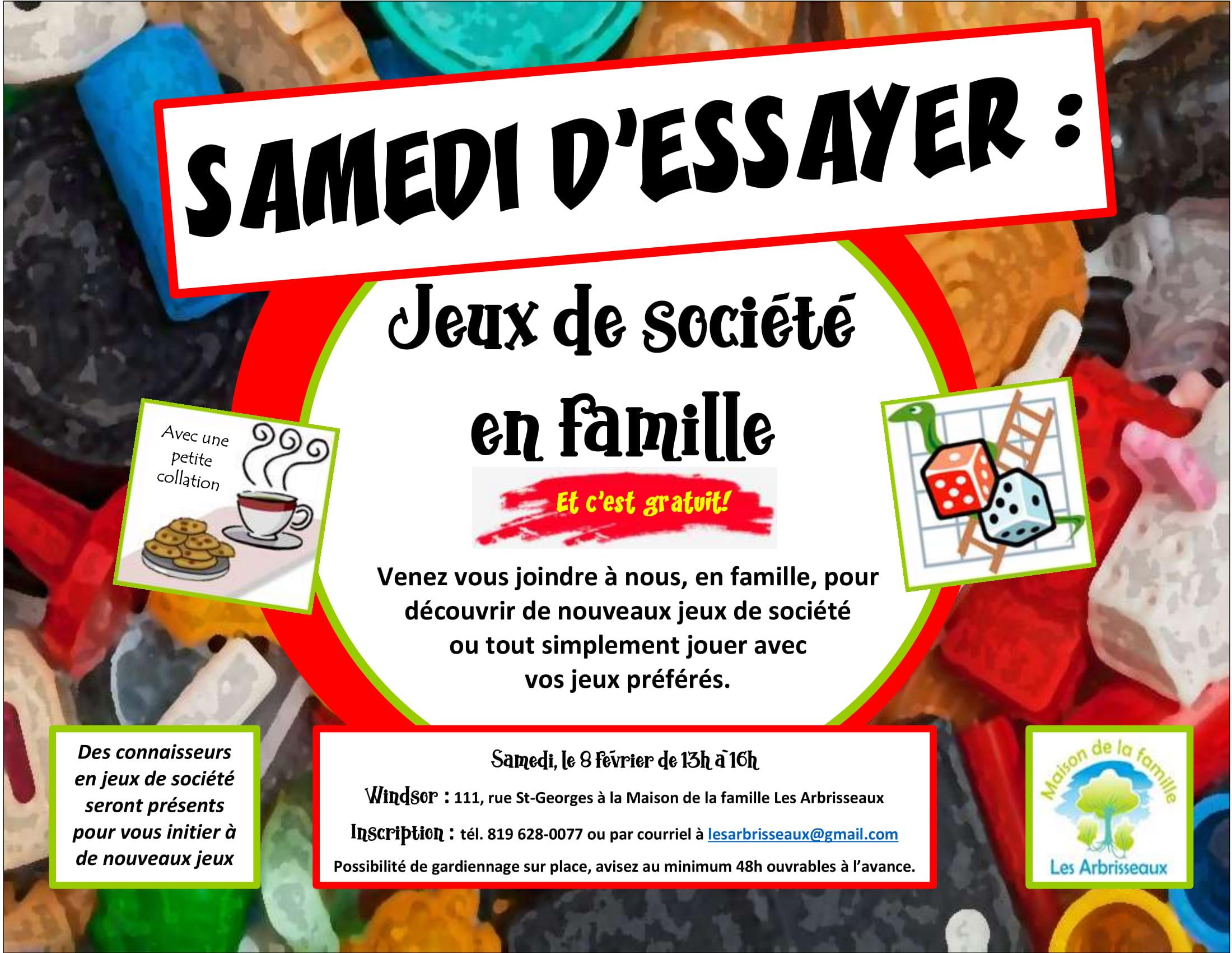 Samedi D'essayer : Jeux De Société En Famille - Maison De La pour Jeux Gratuit 4 Ans