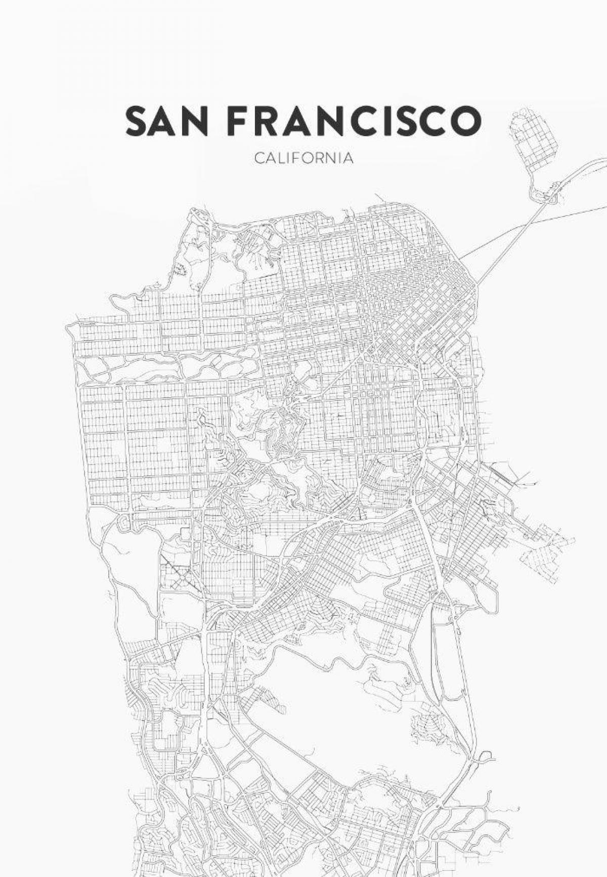 San Francisco Carte Imprimer - Imprimer La Carte De San tout Carte Des Etats Unis À Imprimer