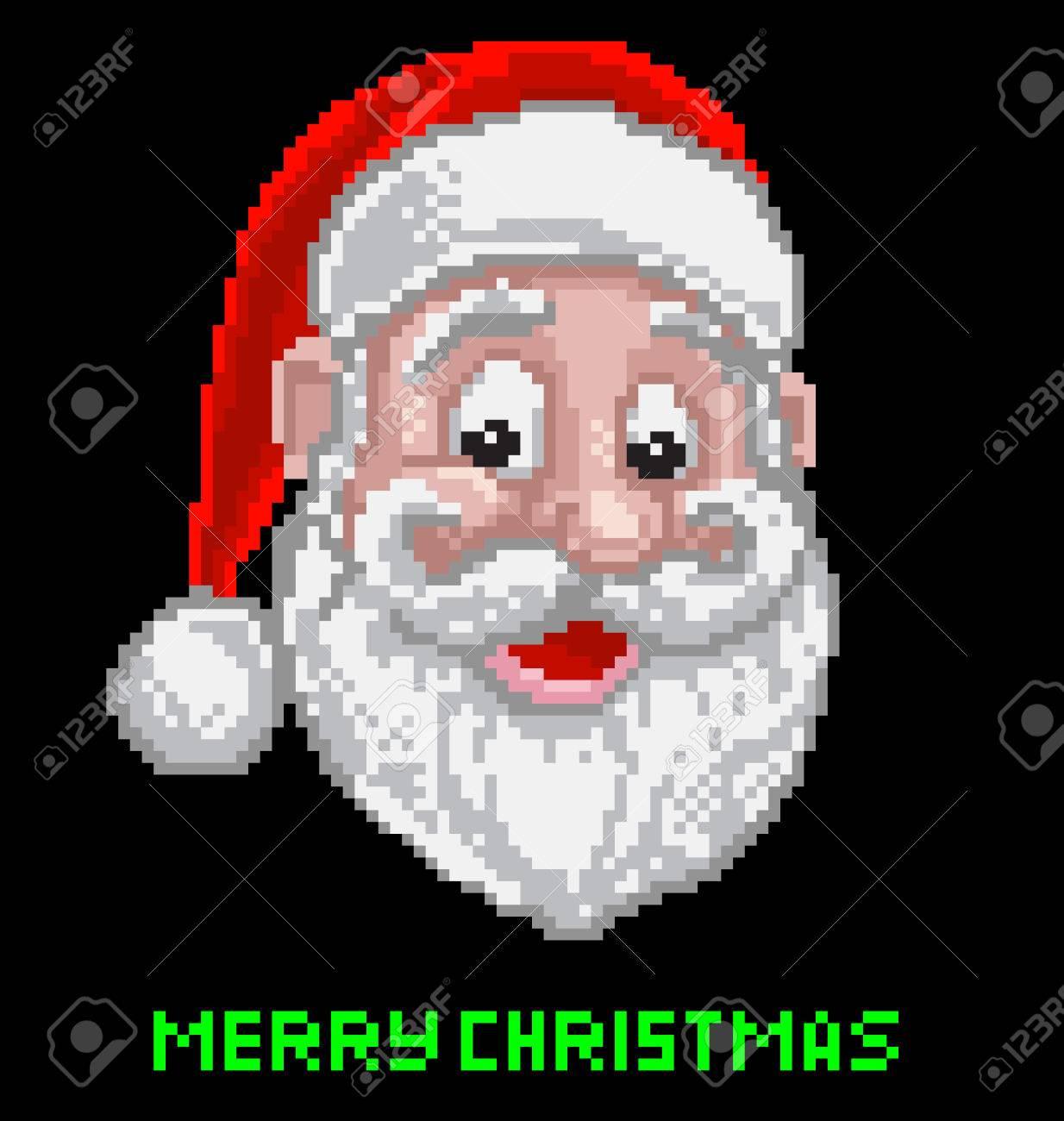 Santa Claus Christmas Pixel Art dedans Pixel Art Pere Noel