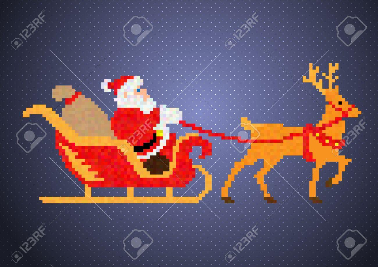 Santa Claus Pixel-Art serapportantà Pixel Art Pere Noel