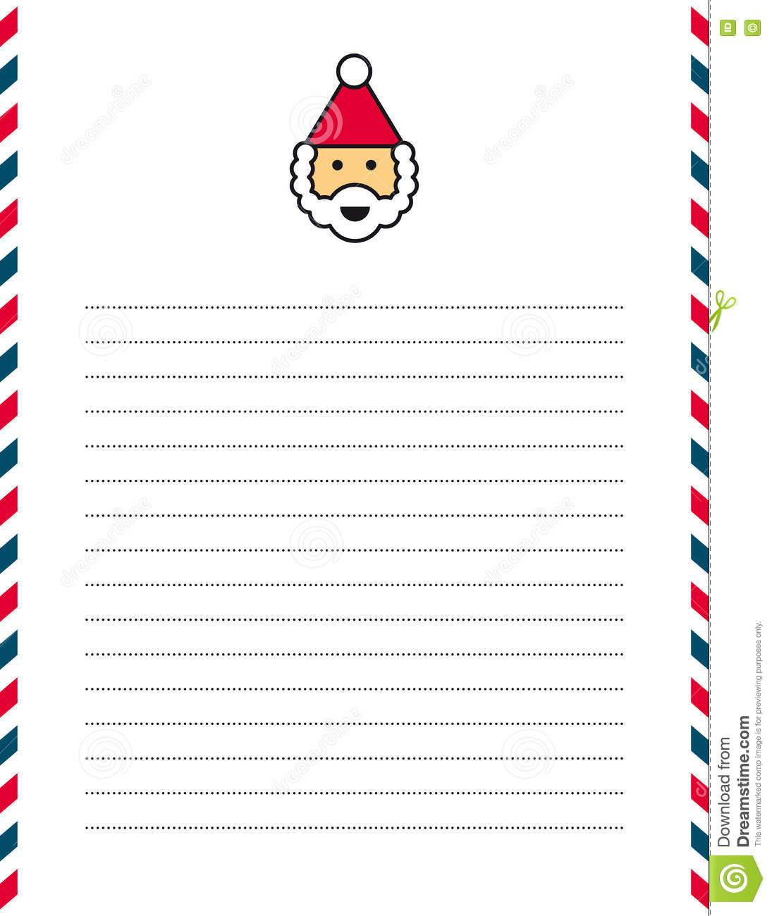 Santa Clause Letterhead Stock Vector. Illustration Of à Papier Lettre De Noel