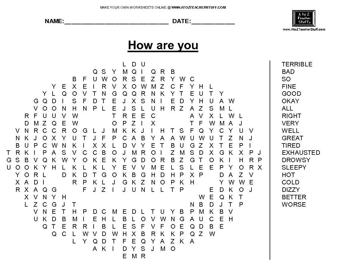 Santé En Anglais – My-Teacher.fr : Apprendre L'anglais Par L pour Jeux En Anglais A Imprimer