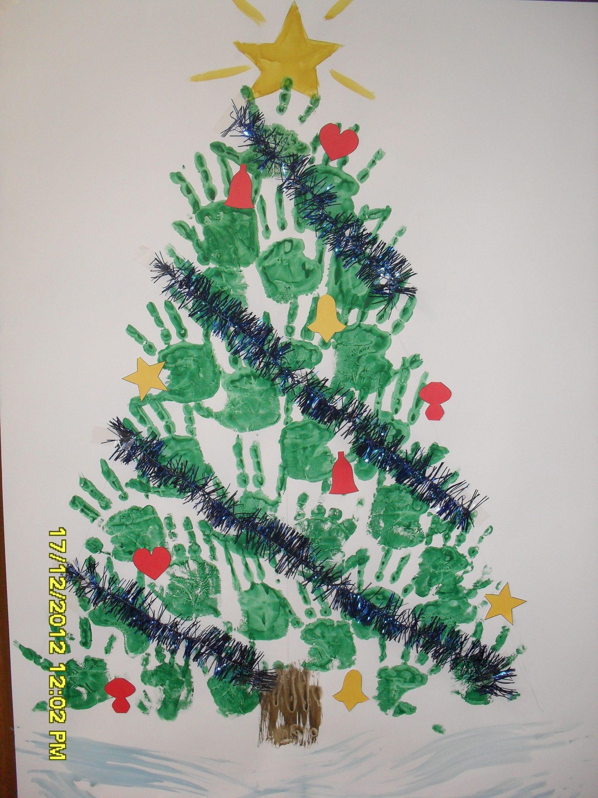Sapin Collectif | Deco Noel Maternelle, Décoration Noel pour Activité Manuelle Noel En Creche
