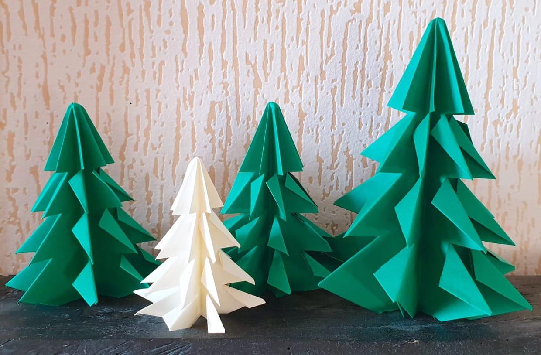 Sapin De Noël En Origami, Pliage Papier [Video] à Decoupage Papier Facile
