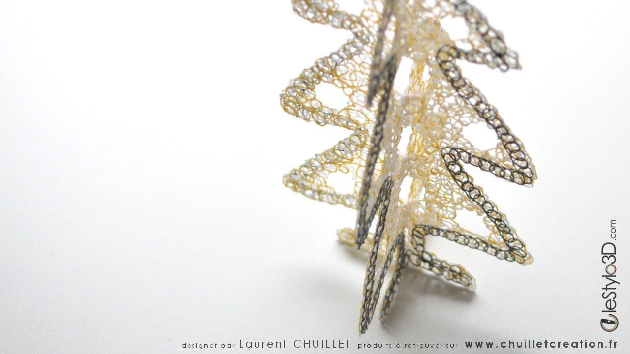 Sapin De Noël - Stylo 3D | Lestylo3D tout Gabarit Sapin De Noel
