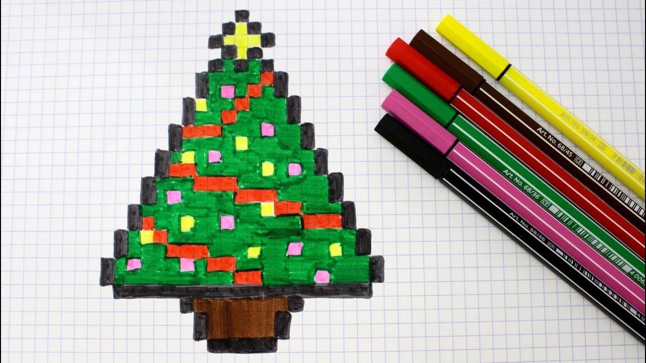 Sapin En Pixel Art intérieur Pixel Art De Noël