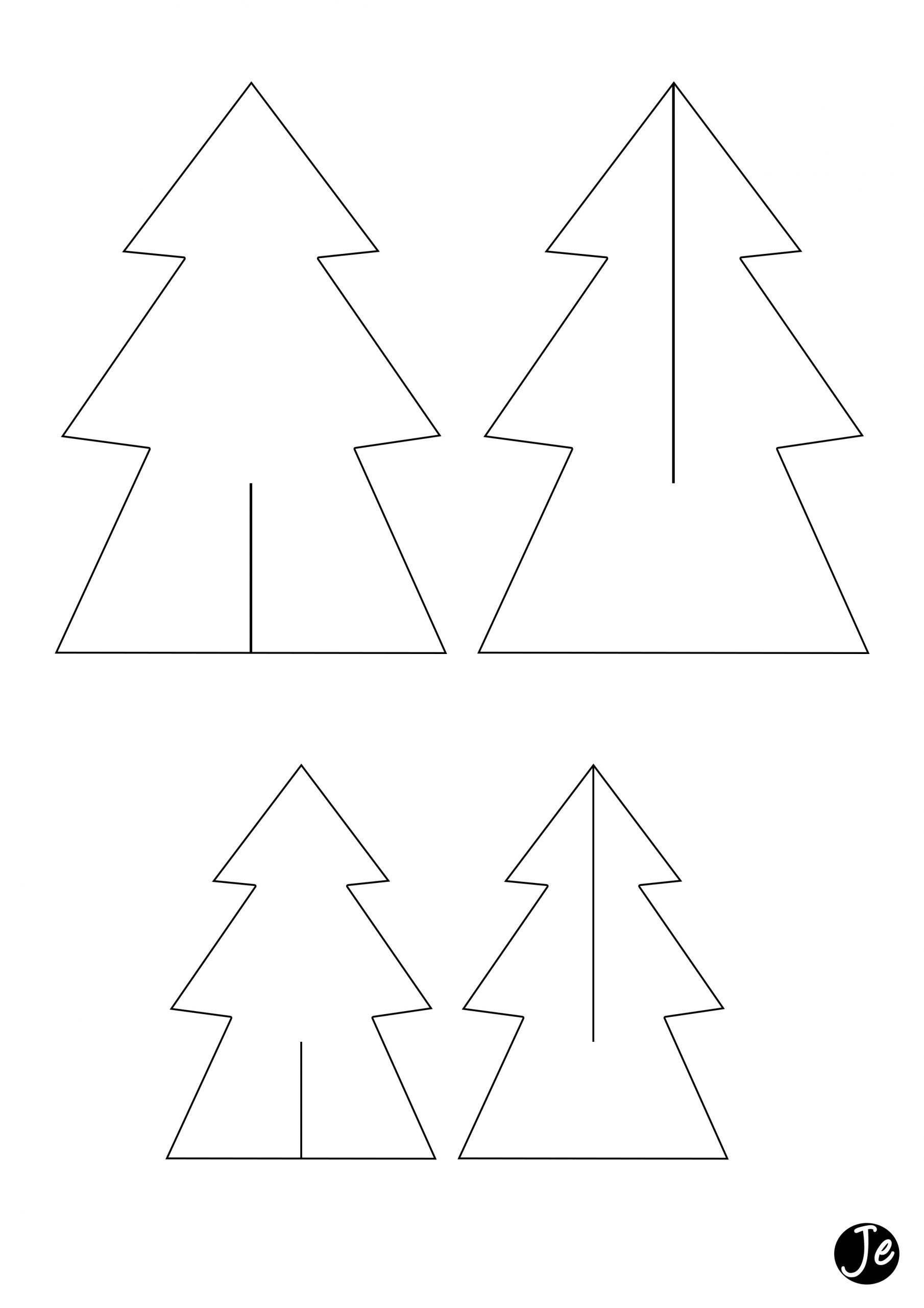 Sapins De Noël En Carton | Jouonsensemble dedans Gabarit Sapin De Noel