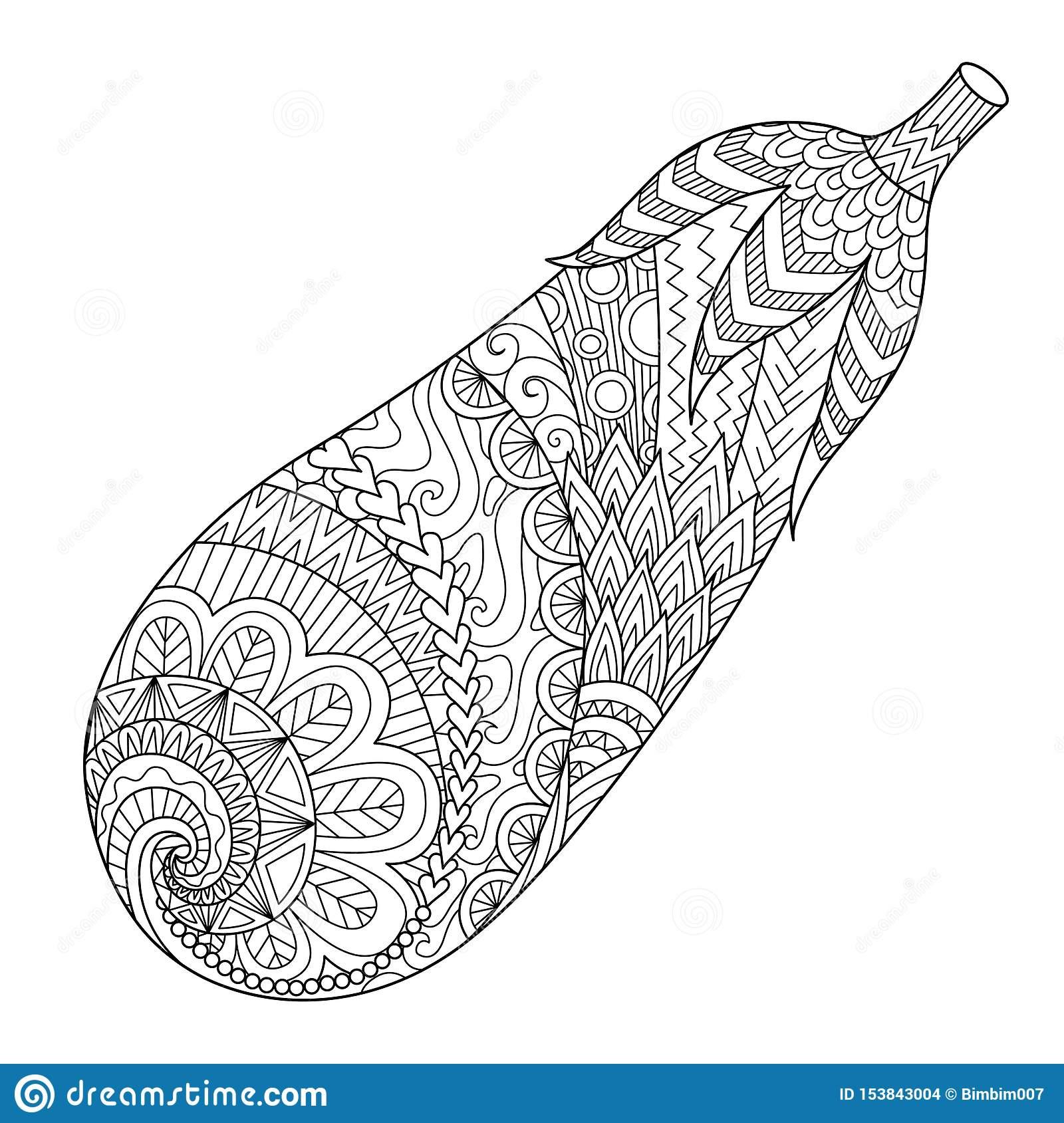 Schéma D'aubergine, Gribouillent L'art Pour Imprimer Sur La serapportantà Livre De Coloriage À Imprimer