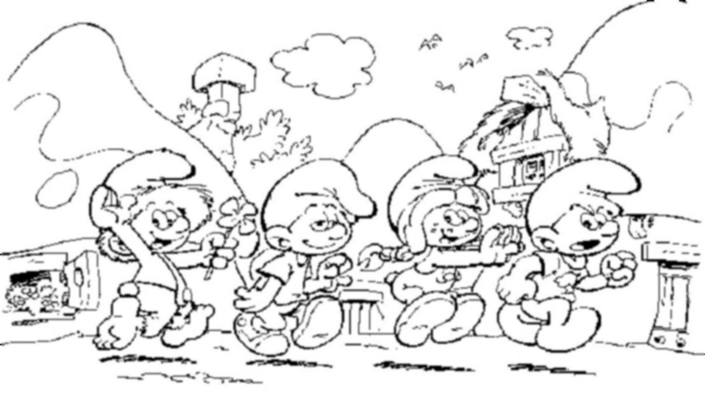Schtroumpfs #231 (Dessins Animés) – Coloriages À Imprimer tout Schtroumpf À Colorier